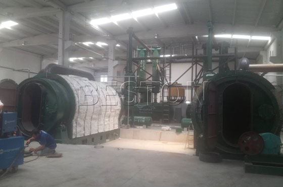 BLJ-6 waste tyre pyrolysis plant installed in Turkey