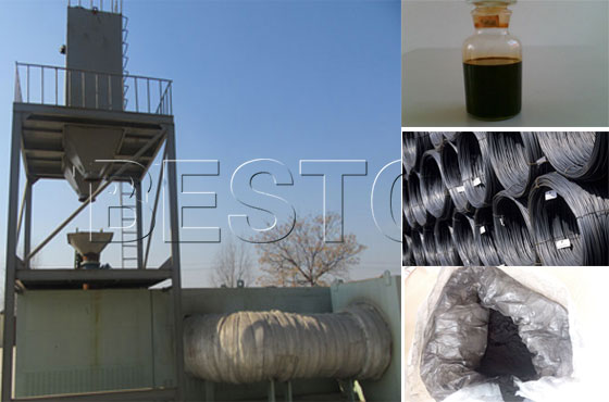 Beston waste tire pyrolysis machine for sale