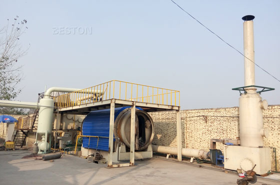 waste plastics to fuel oil machine