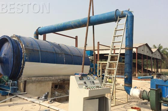 pyrolysis plant was exported to Nigeria