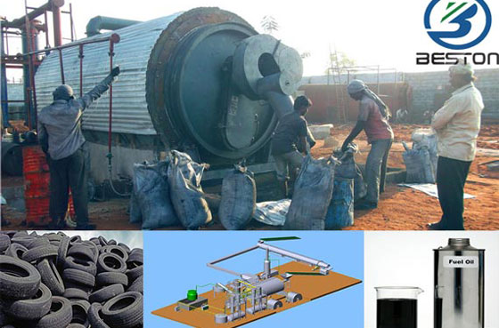 tire to oil recycling plant