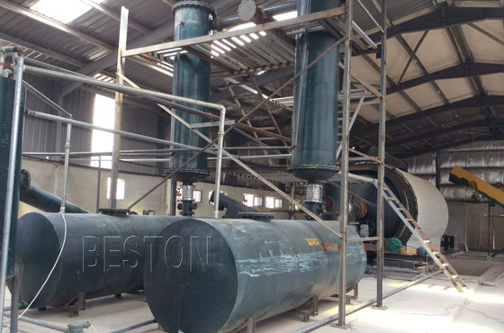 tyre pyrolysis plant was successfully installed and running smoothly in Jordan
