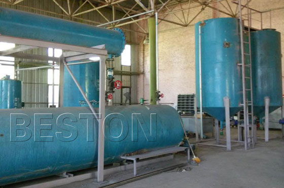 waste oil distillation plant was installed successfully in Ukraine