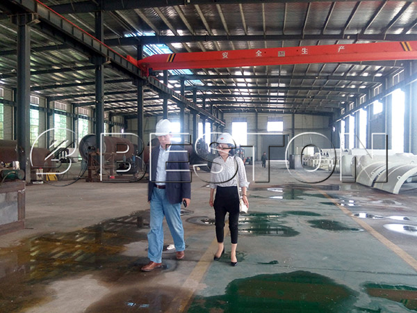 Korean customer in factory