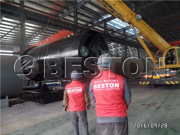 beston blj 10 pyrolysis machine shipping to korea