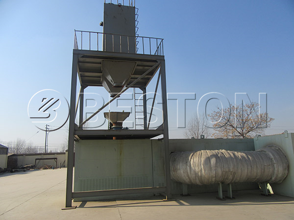 continuous waste plastic recycling pyrolysis system