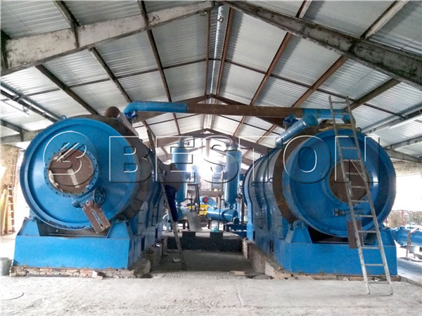 Beston waste plastic pyrolysis plant installed in Hungary