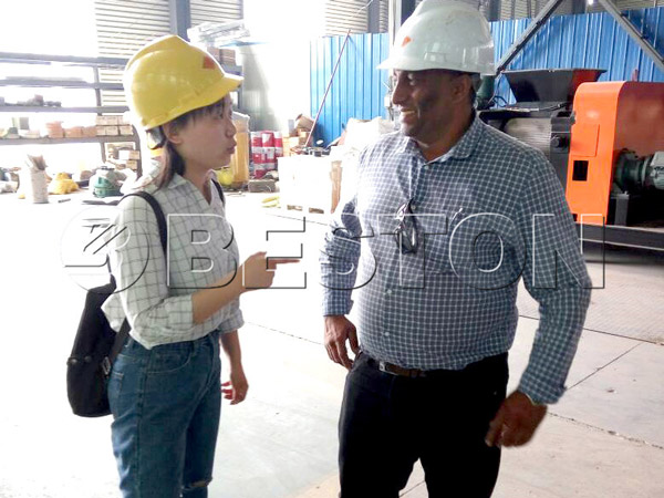 customer came for oil distillation plant
