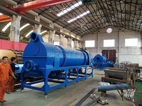 Beston charcoal making machine to Uzbekistan
