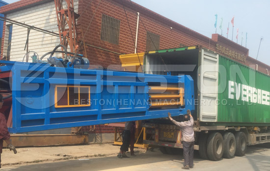 Shipment of MSW Treatment Plant to Foreign Country